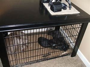 Extra large dog crate table over by david grimes for Xl dog crate table