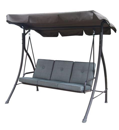 shop home garden patio furniture 3 seat cushion swing