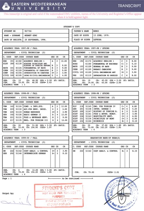 college transcripts template for 26 images of college word transcript template for accounting tonibest