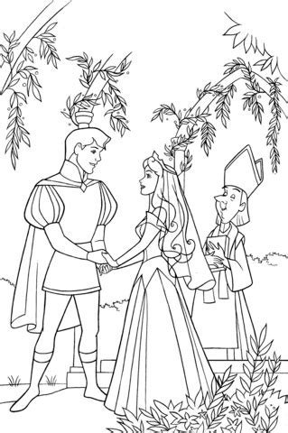 aurora  phillip holds hands coloring page