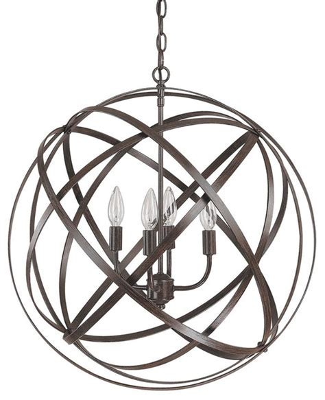 Large Metal Strap Globe Lantern   4 light   Outdoor