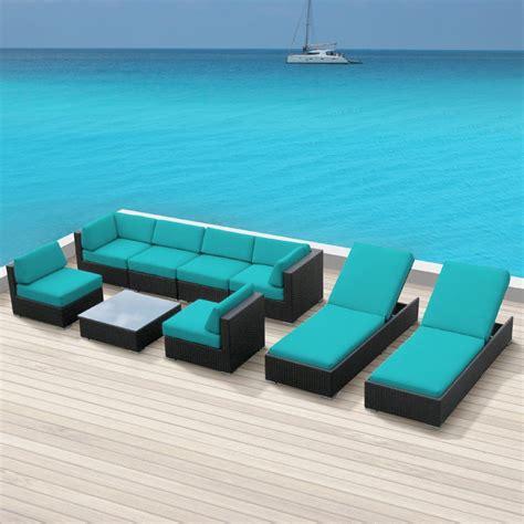 outdoor wicker sectional sofa set luxxella wicker bella 9 pc sofa sectional outdoor patio