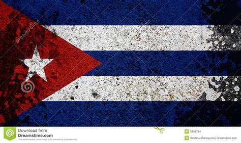 grunge cuba flag stock images image