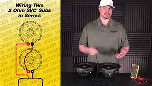 Subwoofer Wiring  Two 2 Ohm Single Voice Coil Subs In