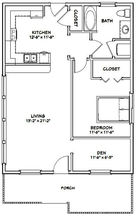 house  bedroom  bath  sq ft  floor plan etsy guest house plans  bedroom