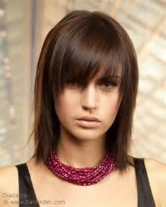 Shoulder Length Shag With A Long Textured Fringe That Almost Hides The Eyes
