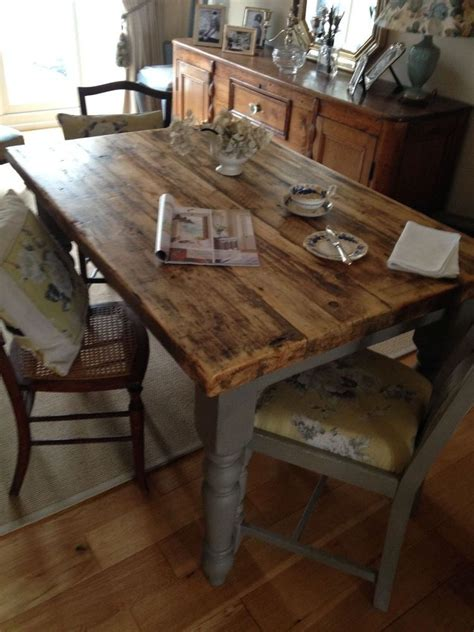 ft rectangle kitchen table   reclaimed scaffold