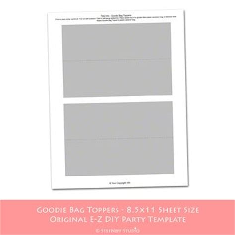 bag topper template 17 best images about bag toppers on printables bags and favors