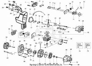 Poulan Bc30b Gas Trimmer Parts Diagram For Engine
