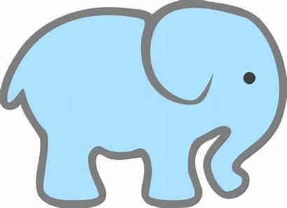 Elephant Clip Clipart Lt Clker Cartoon Svg