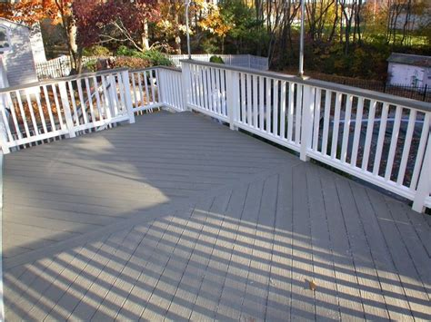 brown deck stain with grey house search outside