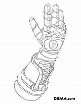 Gauntlet Coloring Outline Gauntlets Knight Line Printable Would Wear Fire Armor Fancy Looking sketch template