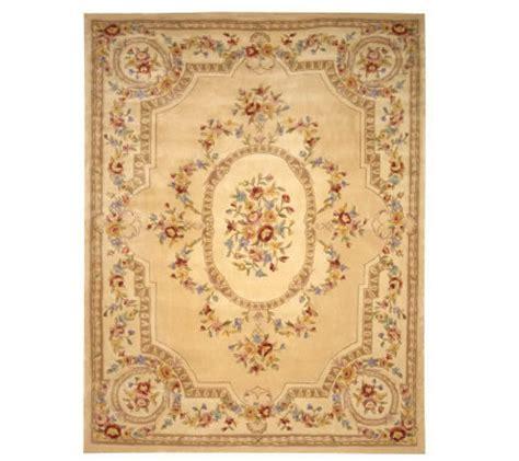 qvc area rugs royal palace floral savonnerie 9 x 12 handmadewoolrug