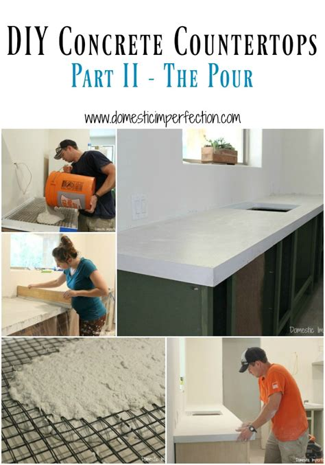 Pour Your Own Concrete Countertops by Diy Concrete Countertops Part Ii The Pour Domestic