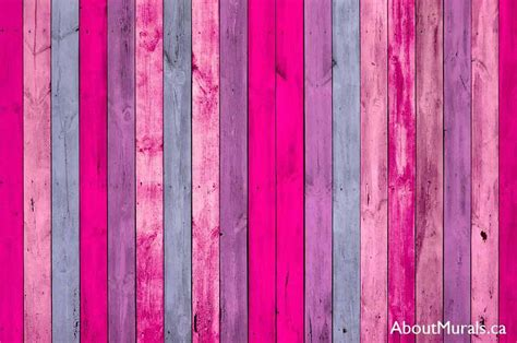 pink wood planks wall mural removable wallpaper