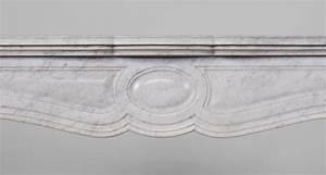 Marbre Blanc De Carrare : chemin e ancienne de type pompadour galb e en marbre blanc ~ Dailycaller-alerts.com Idées de Décoration