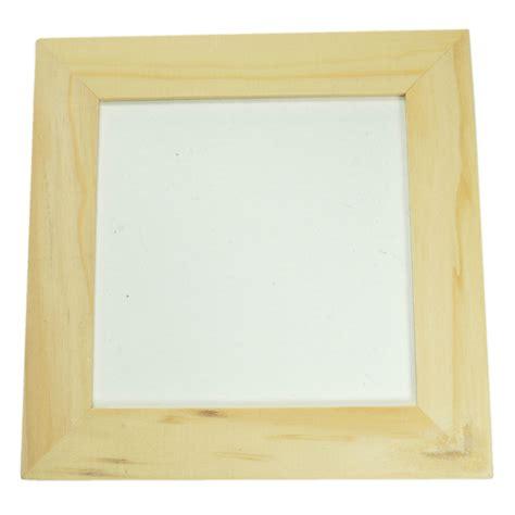cadre en bois 224 peindre cadre photo en bois brut naturel 224 d 233 corer soi m 234 me 12x12cm produits