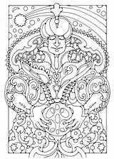Coloring Magician Pages Printable sketch template