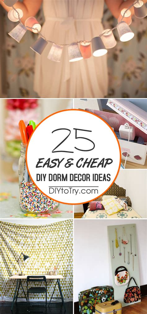 easy cheap diy dorm decor ideas