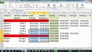 Excel bedingte formatierung mit funktion werkzeugliste for Werkzeugliste excel