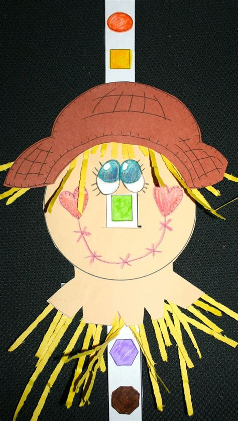 scarecrows shapely nose classroom freebies