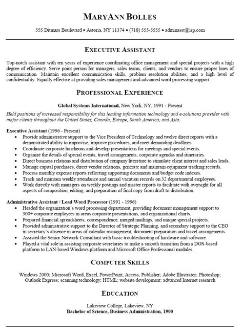 good resume summary exle writing resume sle