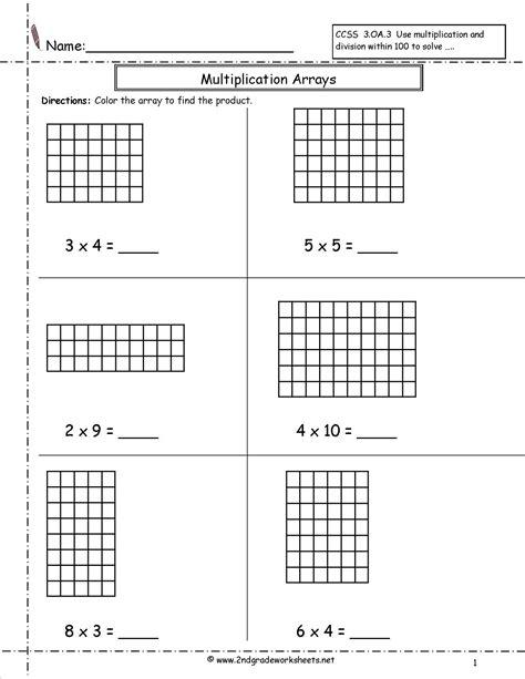 rectangular array division worksheets worksheets for all