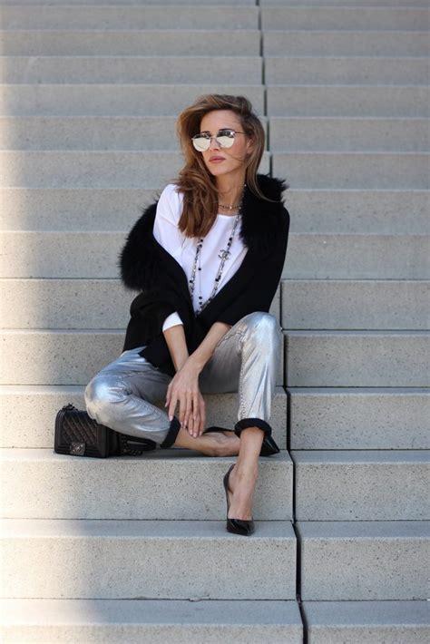 silver denim black knit blog alexandra lapp
