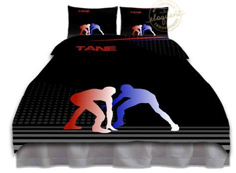 wrestling bedding set blue red wrestling comforter