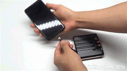 Portable Led Cables Charging Built Bank Power