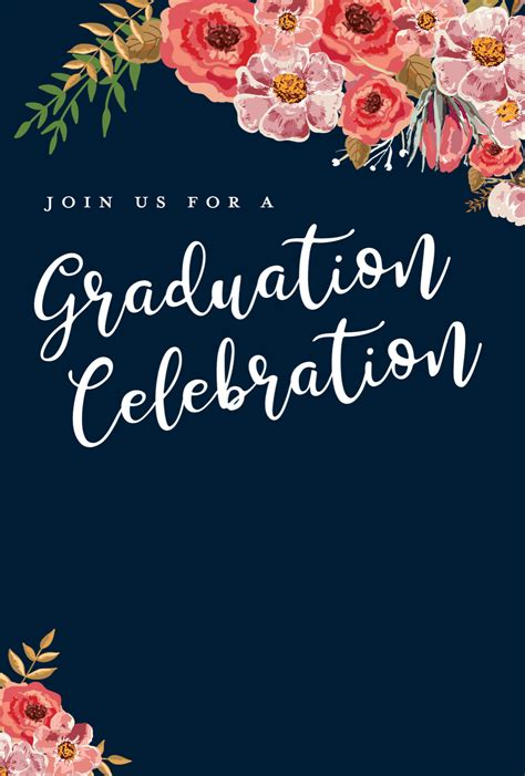 Templates For Invitations by 5 Editable Graduation Invitation Templates Tips