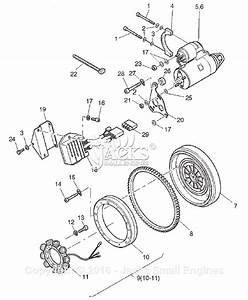 Robin  Subaru Rgd5000h Parts Diagram For Starter  Alternator