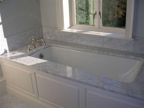 bathtub marble top idea   home pinterest