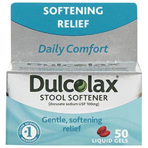 Is Bisacodyl A Stool Softener - dulcolax stool softener liquid gels 50 ea fsastore