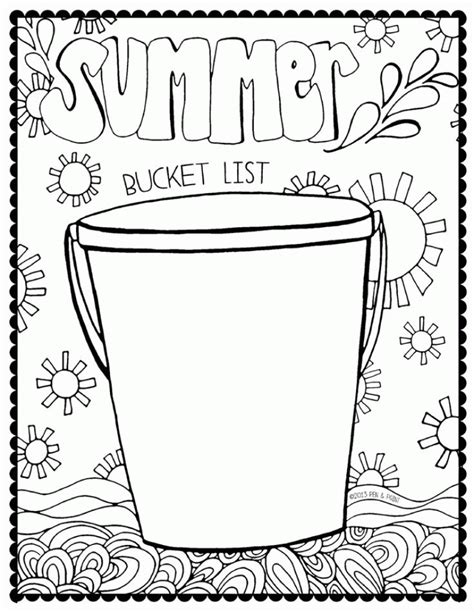 bucket coloring page coloring home