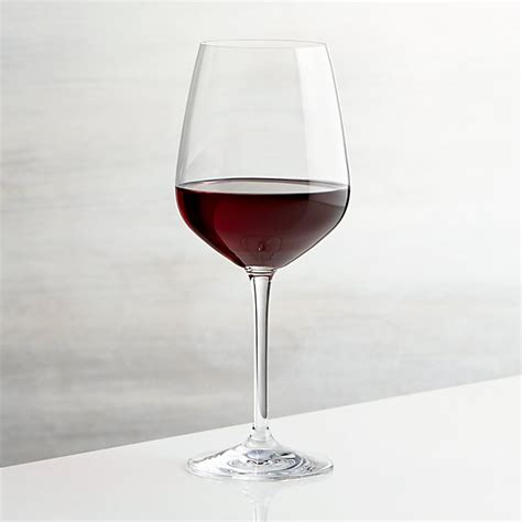 Red wine glass goblet stainless steel copper plated cup bareware 17oz golden. Nattie Red Wine Glass | Crate and Barrel