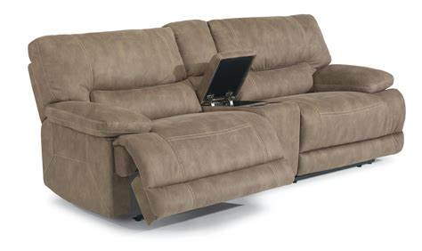 flexsteel latitudes delia power reclining sectional sofa with middle arm console olinde s