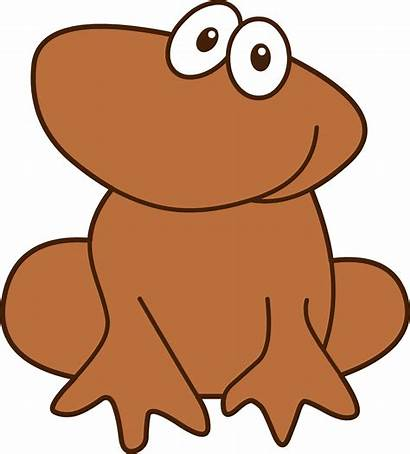 Brown Frog Clip Clipart Tadpole Cliparts Sweetclipart