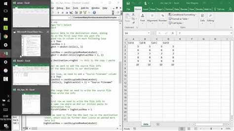 combine data from worksheets into one resultinfos