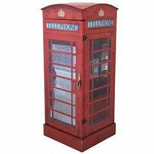 London Telephone Box Display Cabinet