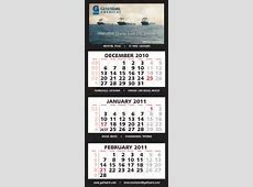 2019 3 Month Calendar at a glance 4 Panel w Numbered