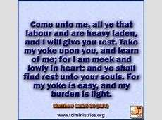 Will Heavy And You Me Are All Labor Come Who I And You Rest Laden Give 8