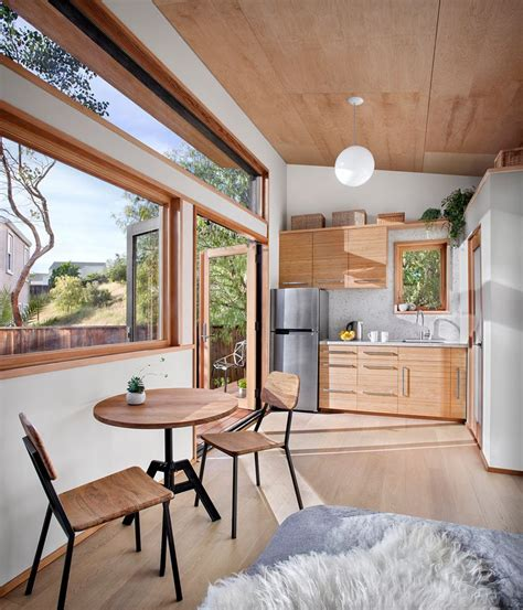 small contemporary guest house  compact living