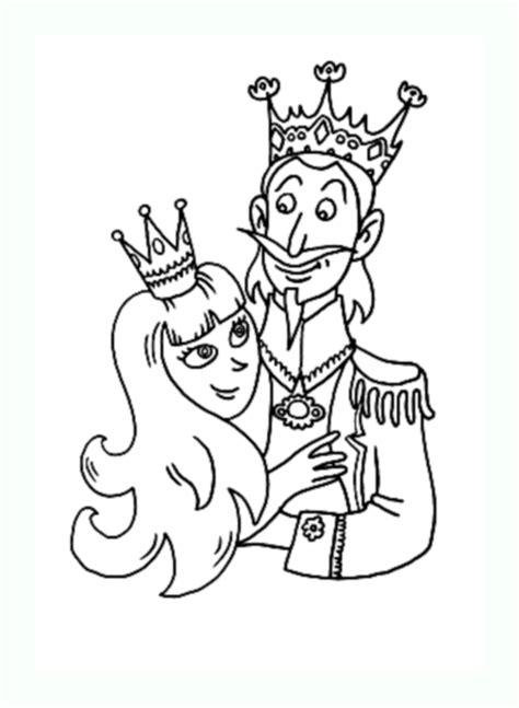 Roi Reine 2  Coloriage De Rois Et Reines Coloriages