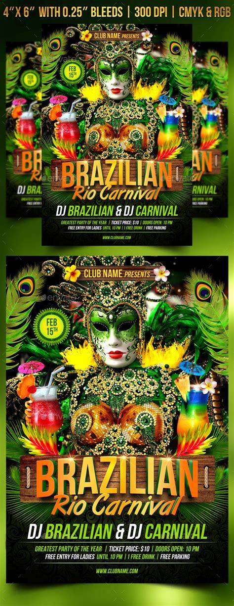 brazilian carnival flyer template brazilian rio carnival flyer template by gugulanul
