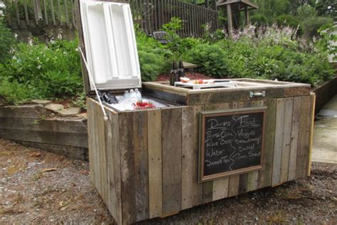 turn an refrigerator into a outdoor cooler