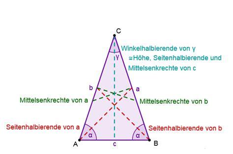 gleichschenkliges dreieck lernen mit serlo
