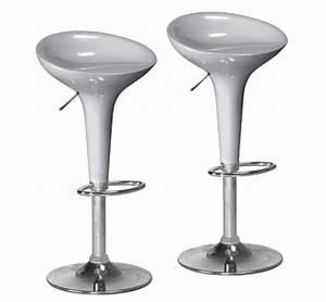Tabouret De Bar Gris : tabouret de bar pas cher gris laqu et acier chrom ~ Teatrodelosmanantiales.com Idées de Décoration