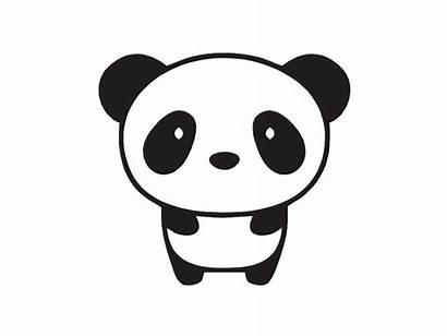 Panda Clipart Saying Hi Sticker Cut Vinyl