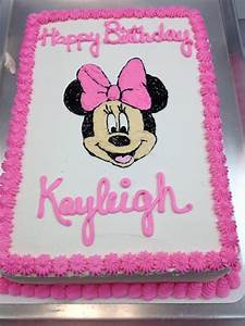 minnie mouse sheet cake - Google Search | Cake designs ...